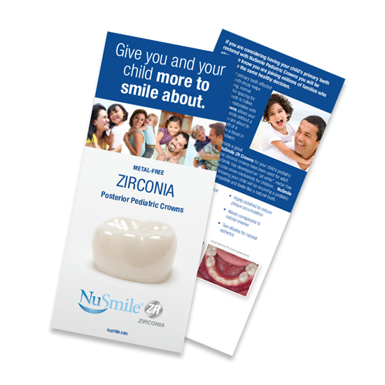 Picture of NuSmile ZR Posterior Crown English Brochures for Parents, Pack of 50