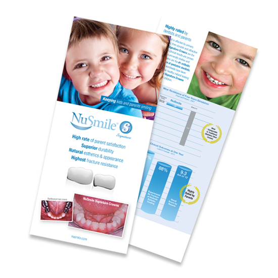 Picture of NuSmile Signature Posterior Crown English Brochures for Parents, Pack of 50