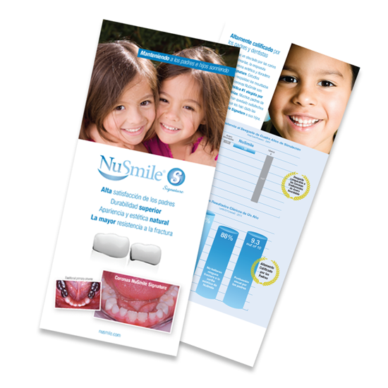 Picture of NuSmile Signature Posterior Crown Spanish Brochures for Parents, Pack of 50