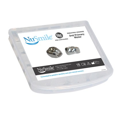 Picture of NuSmile SSC Pre-contoured 2nd Primary Molar Crowns Crown Storage Box