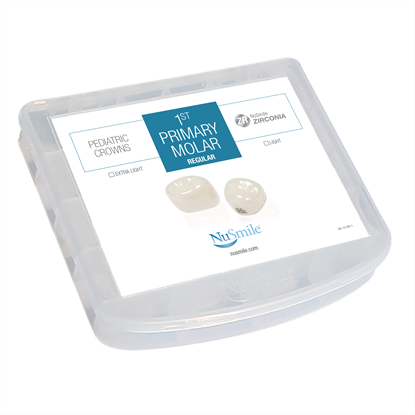 Picture of NuSmile ZR Zirconia 1st Primary Molar Regular Crown Storage Box
