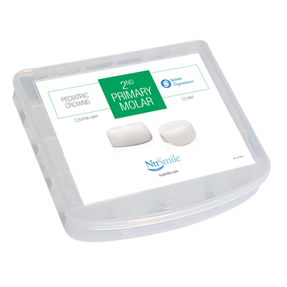 Picture of NuSmile Signature Pre-veneered Posterior 2nd Primary Molar Storage Box
