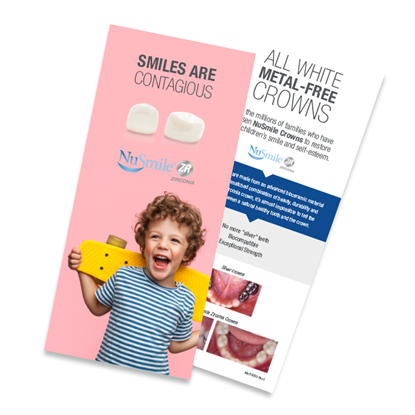 Picture of NuSmile ZR Crowns English Brochures for Parents, Pack of 50